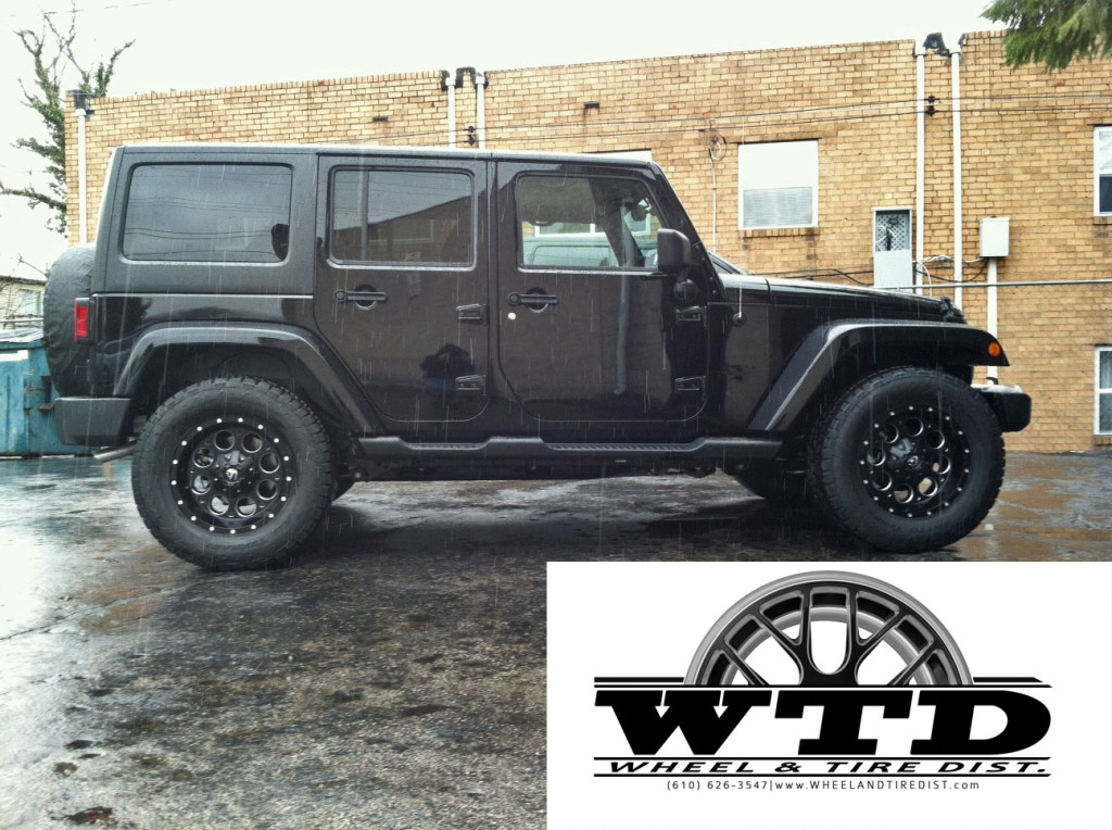 Jeep Wrangler 18x9 Fuel Revolver Black Amp Milled Nitto
