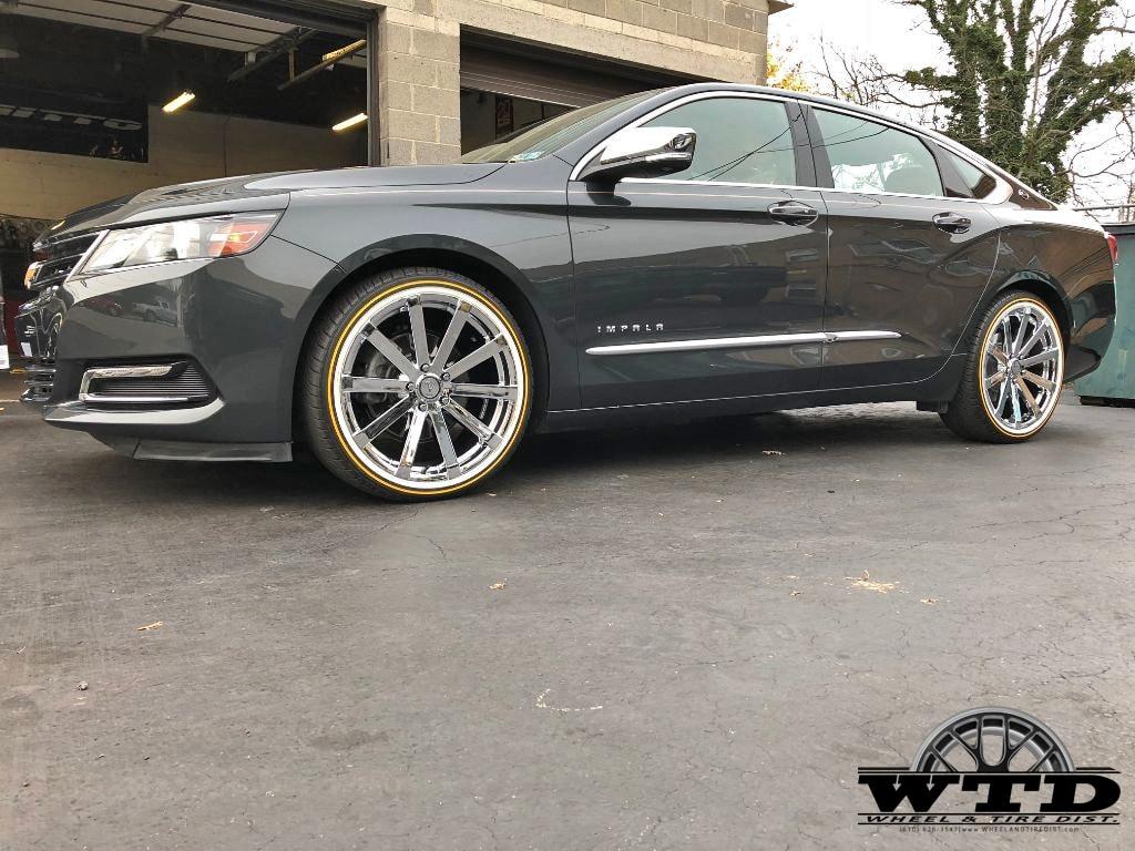Chevy Impala 20 Velocity Vw12 Chrome Vogue Tires